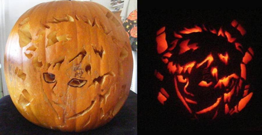 Gaara pumpkin by animedaydream on deviantart