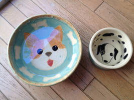 Dog water bowls by Dhirrr