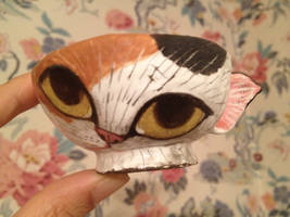 Cat teacup (reproduction) by Dhirrr