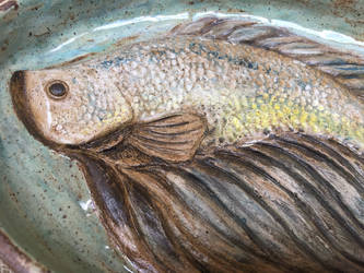 Fish Shallow Dish (close up) by Dhirrr