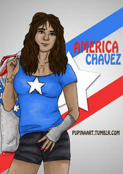 America Chavez Fanart by lilalaune4