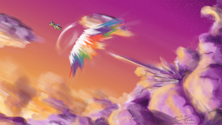 Racing against the sun by Esuka