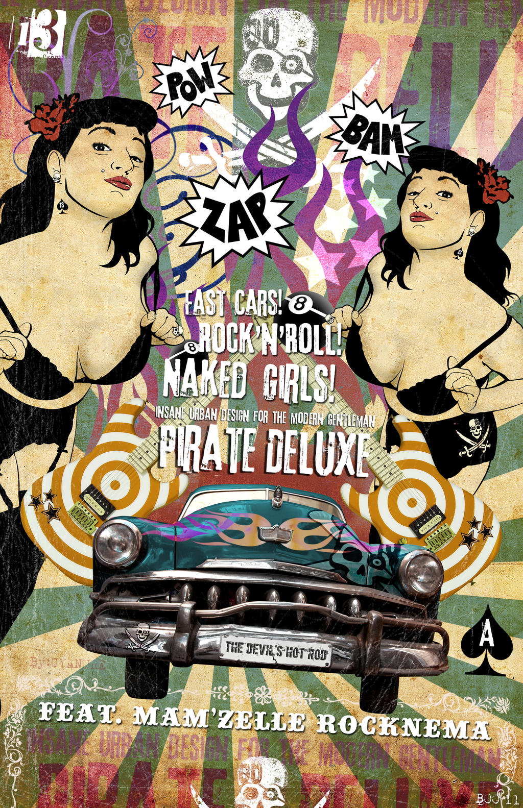 Pirate Deluxe Rockabilly Poster E by misfitmalice