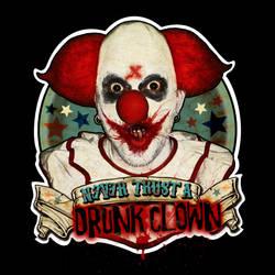 Tales From The Drunk Clown - Logo Fond Noir by misfitmalice