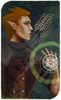 OC: DA:I Tarot Card - Felros Lavellan
