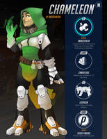 Overwatch Oc - Chameleon by Mossygator