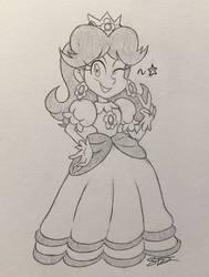 Daisy doodle by Sparkarez