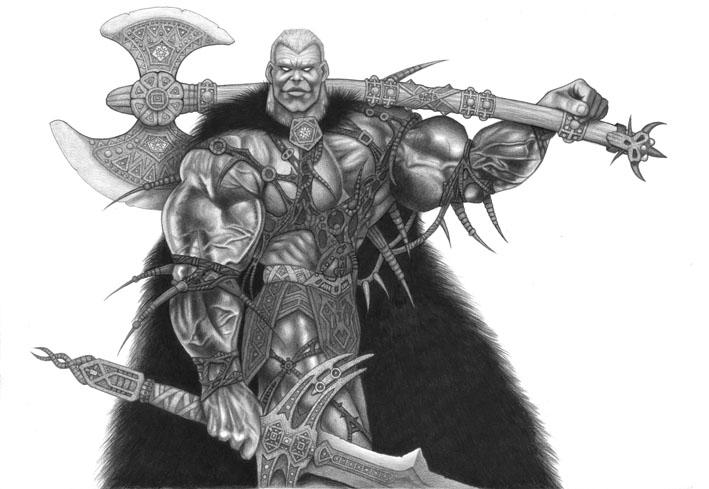 axe warrior by skillman on DeviantArt