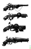 steam pistols by FROSTconcepts