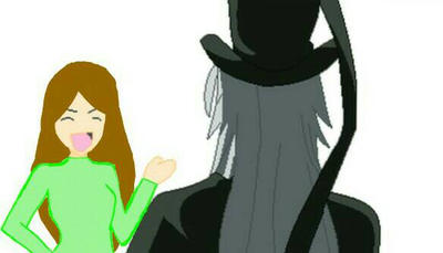 Undertaker and Quinn (My New OC) by TaniaMarieBell