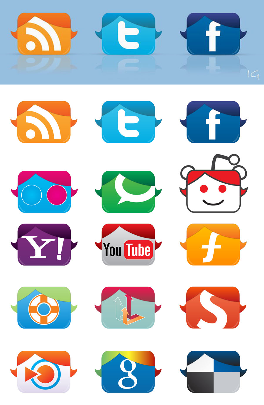 Social Icons by InterGrapher