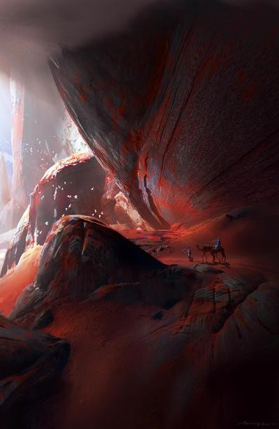 Red mountain  by RuxingGao