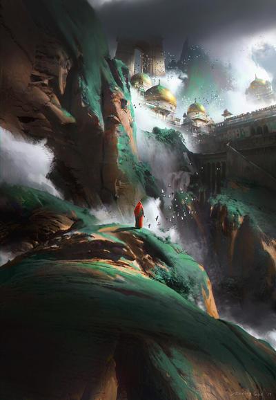 Green mountain  by RuxingGao