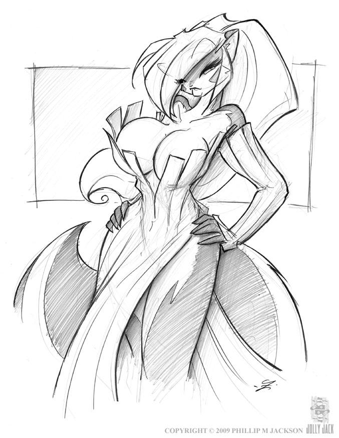 Strip Dress Chloe by jollyjack
