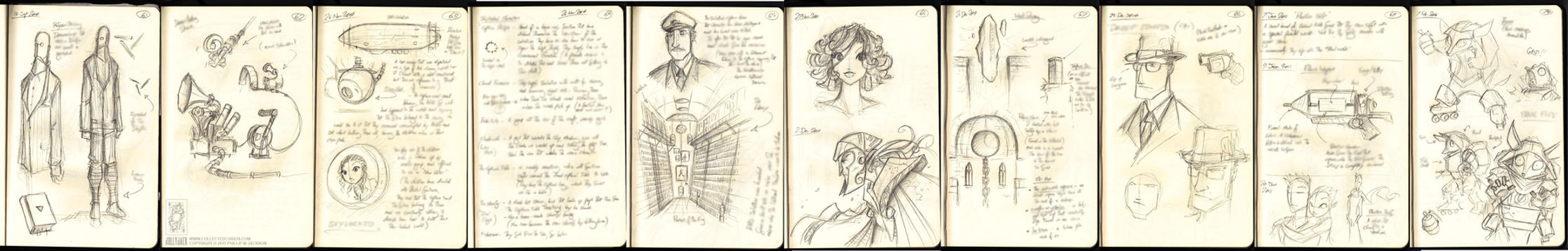 Moleskine Sketches 7 by jollyjack