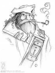 Pirate and Pipe by jollyjack