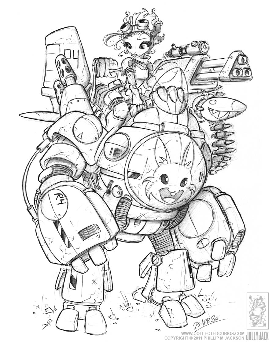 Easter Bunny-Mech by jollyjack