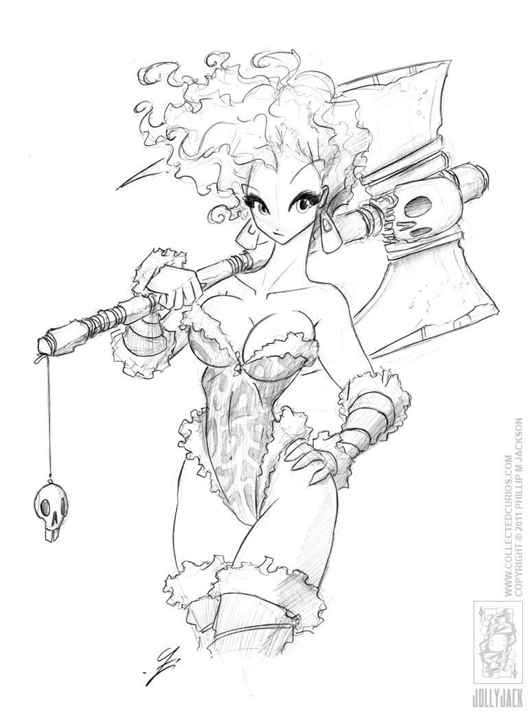 Barbarian Girl by jollyjack