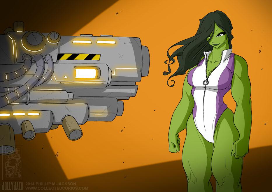She Hulk 29 03 2014 by jollyjack