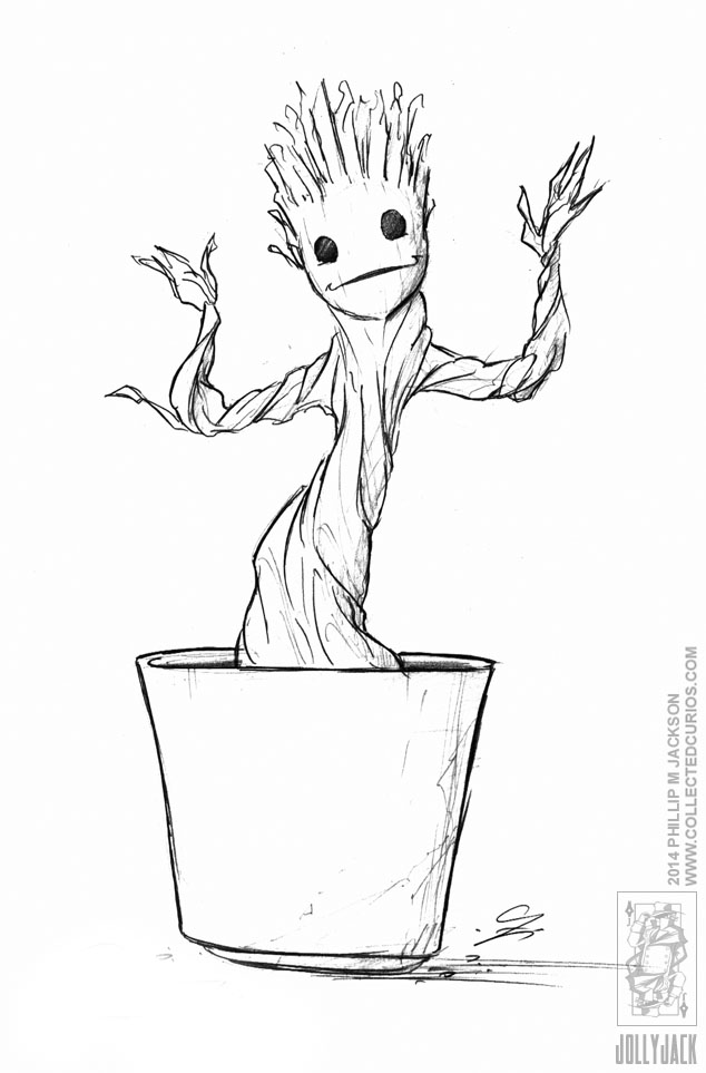 groot coloring pages demoncon 8 dancing groot by jollyjack on deviantart