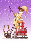 Sexy Christmas Elf by jollyjack
