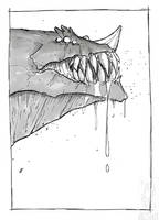 Inktober 2018 - Day 6 - Drooling by jollyjack