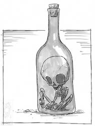Inktober 2018 - Day 18 - Bottle