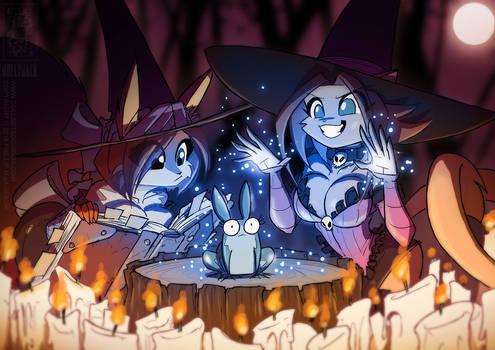 Witchy Kat 'n Scarlet