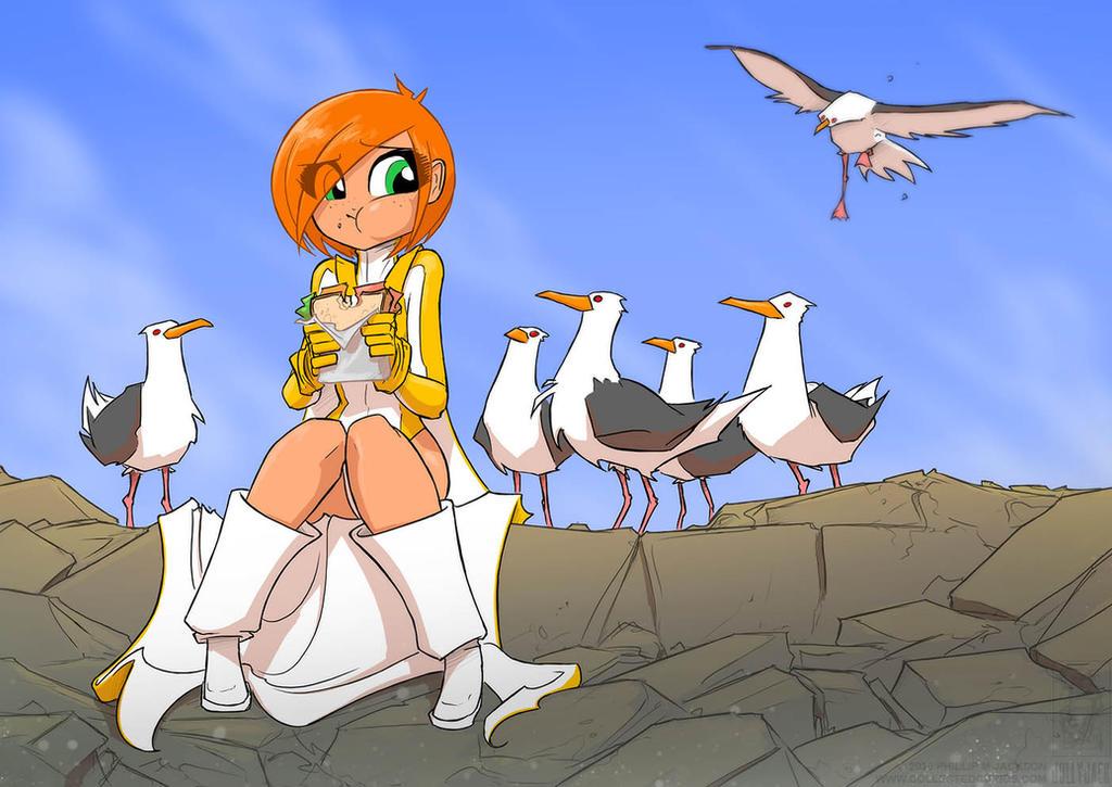 Vicky vs Seagulls