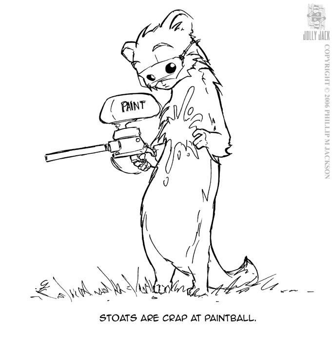 Paintball Stoat by jollyjack