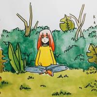 just me, in a beautiful jungle  by kittenalbin