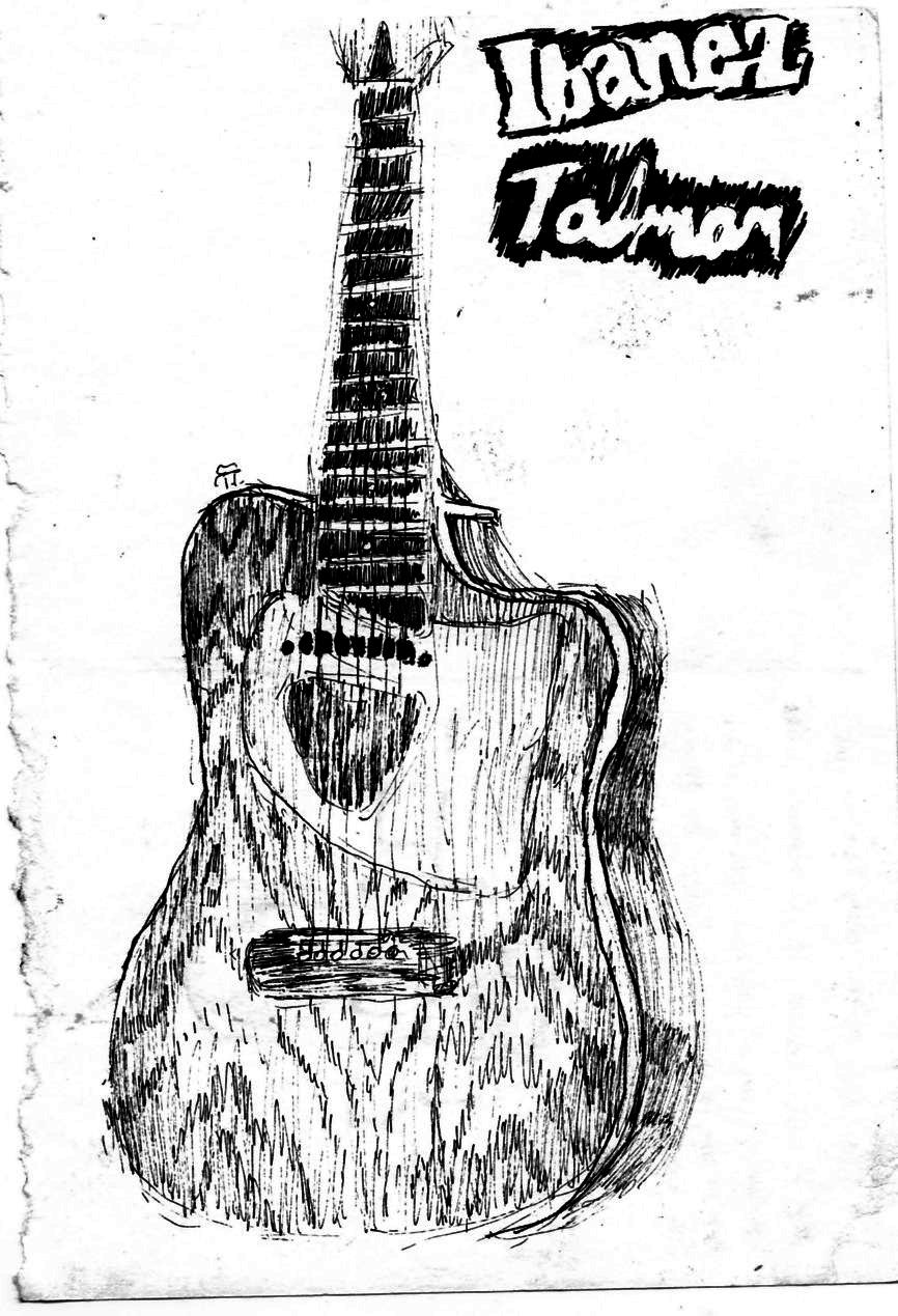 original guitar drawing by matttart on deviantart
