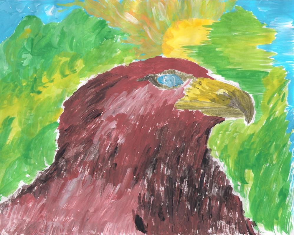 Aguila en el bosque by invaderjavi