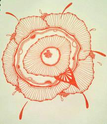 orange flower by lushriot