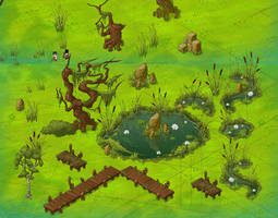 Swamp  obstacles for Unsung Heroes by iljashap