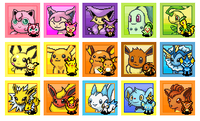pokemon mystery dungeon icons by rebeccathejigglypuff