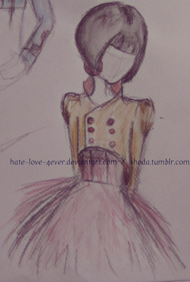 Tutu dress drawing pictures