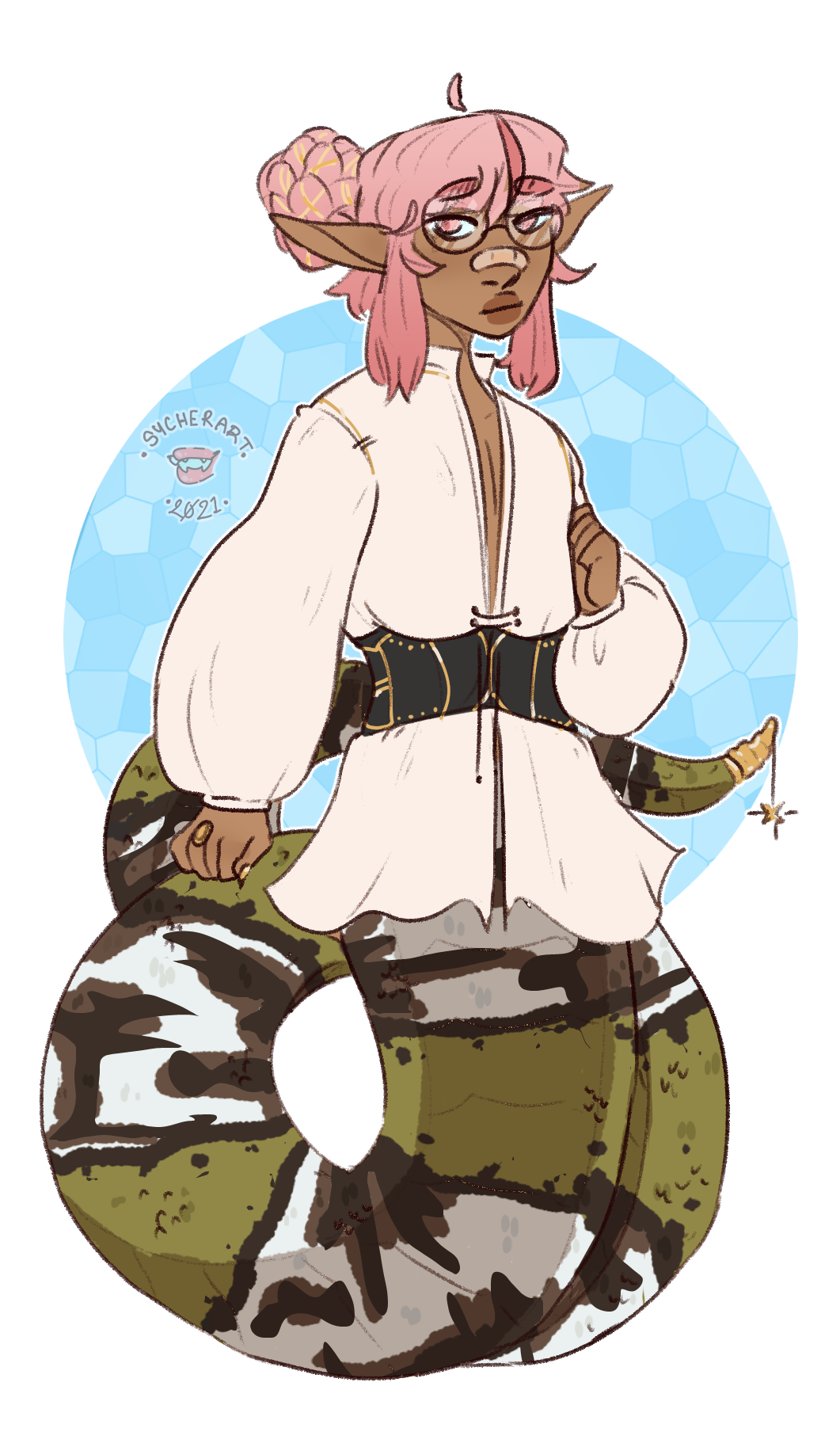 Lamia!Yosa - DnD Character Commission