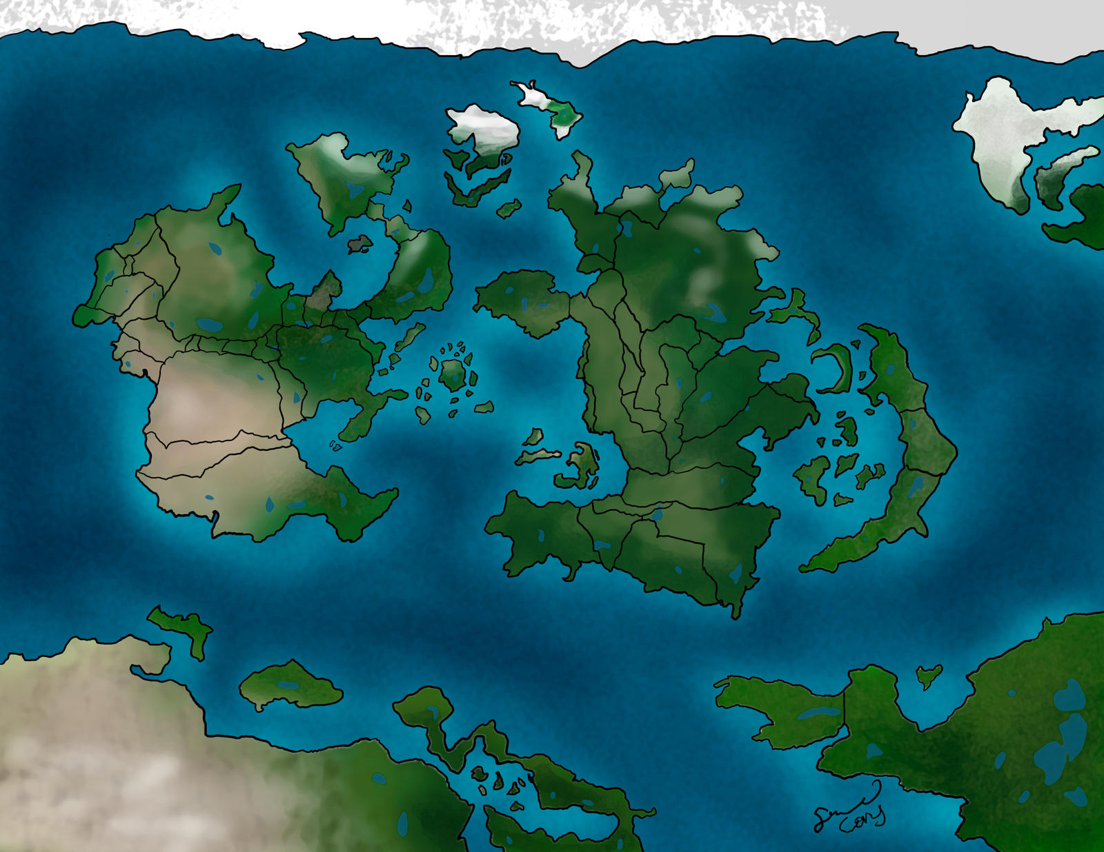 Elemental nations geographical map by xshadowrebirthx on deviantart naruto map v2 by sessy gumiabroncs Images