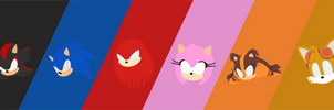 Sonic Boom Characters Vector by Bumbleboss