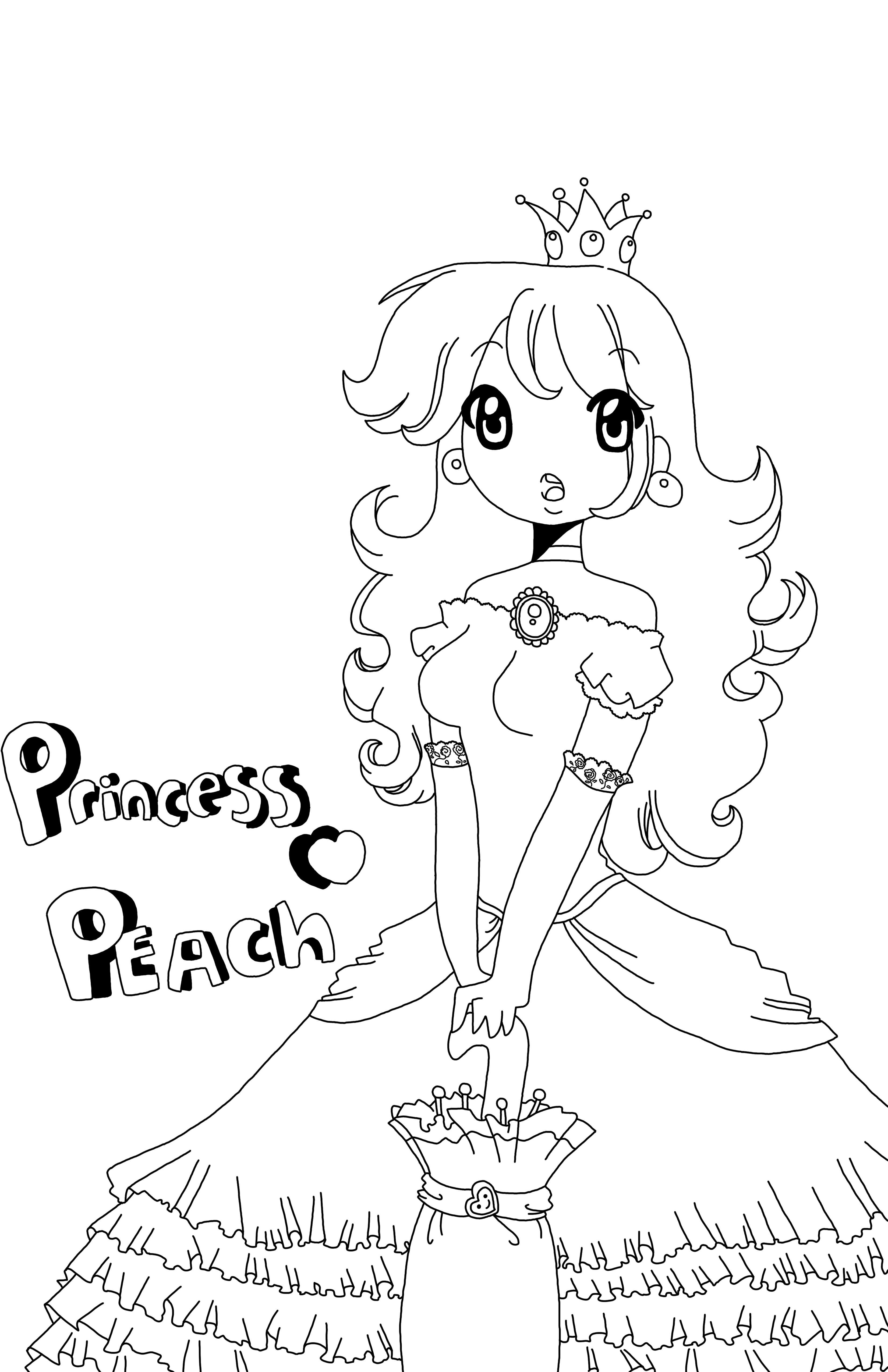 Line Art Poster : Princess peach poster line art by starvalerian on deviantart