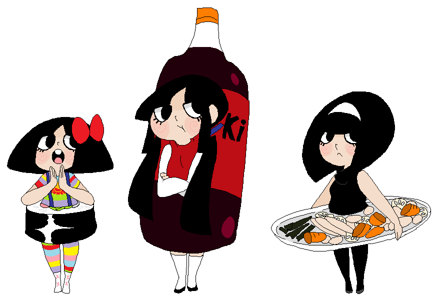 Food dress up by StarValerian