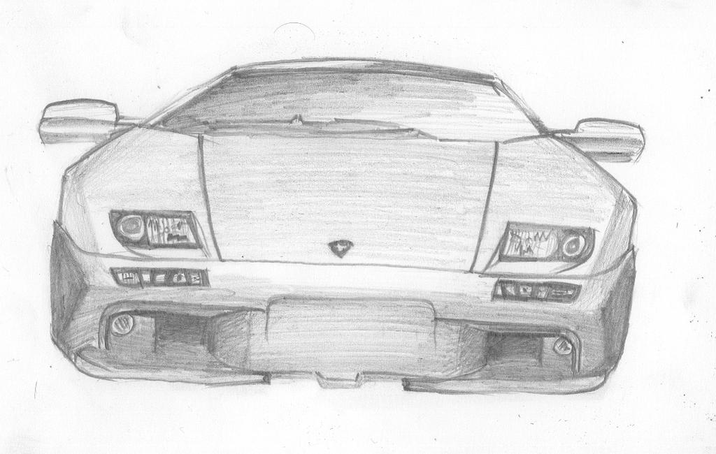 lamborghini diable pencil draw by sillyscribbler