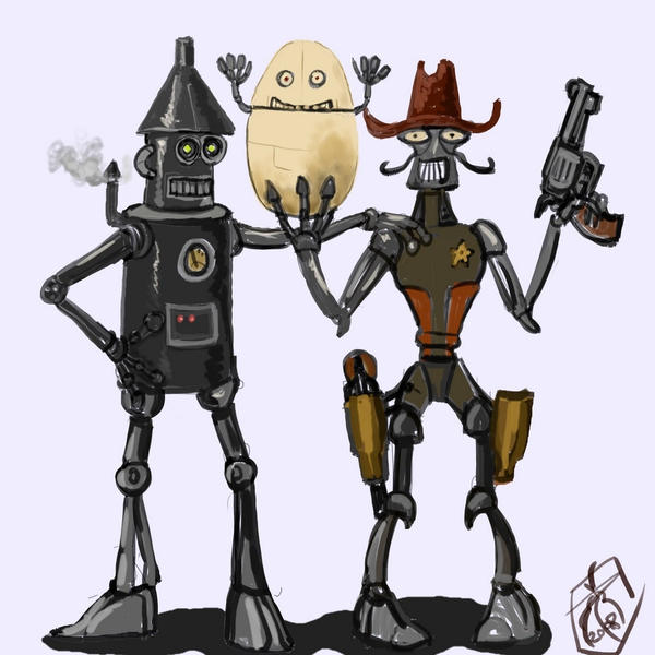 DSG 1438: Sci-Fantasy � TINDER-MAN, GUNJUGGLER, & THE EGGBABY... BEST OF ROBOT PALS