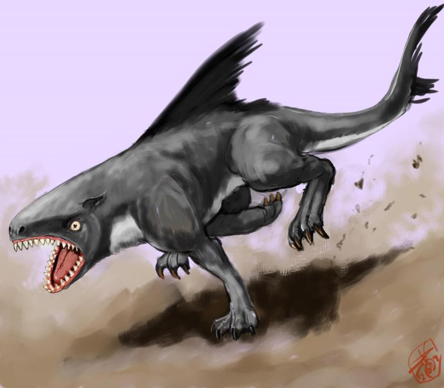 DSG 1445: Creature • FRIGHTENING LAND-ANIMAL LOOKS LIKE A DOG W/ QUALITIES OF A SHARK