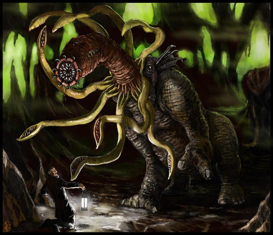 Cthugha Arkham Horror Chaugnar Faugn by Crowsrock