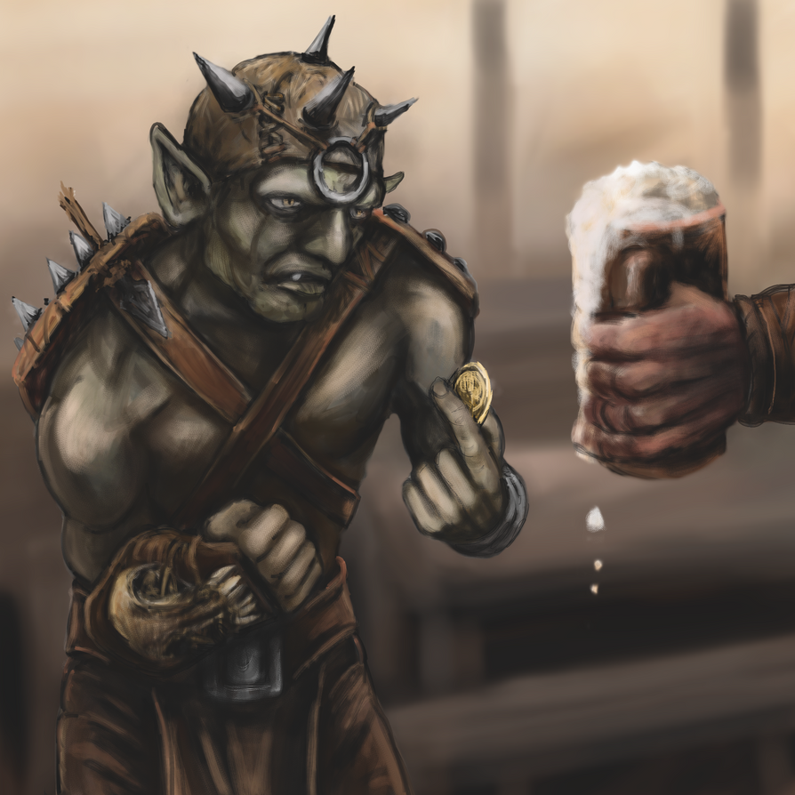 Goblin Mercenary by Crowsrock