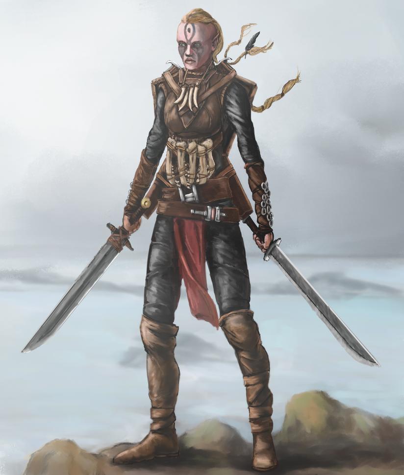 Elven Barbarian by Crowsrock