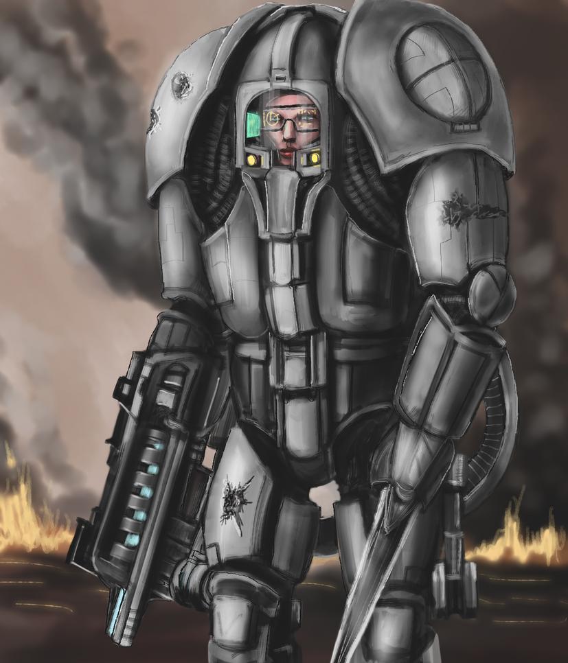 Combat Suit by Crowsrock