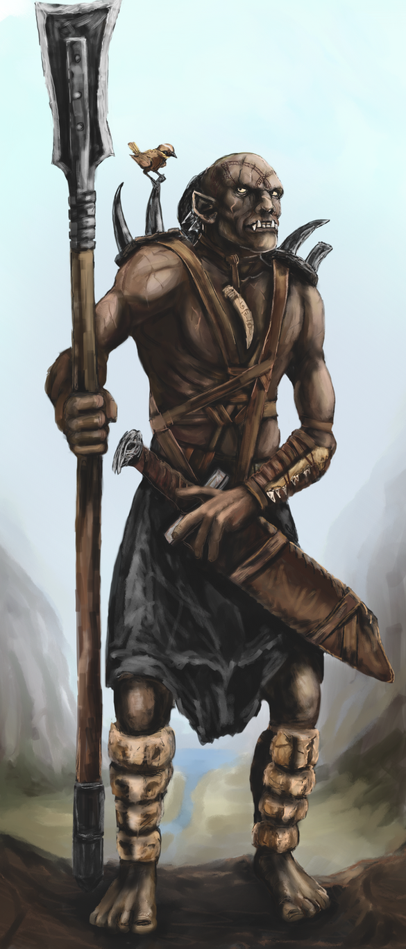 Orc-Warrior by Crowsrock